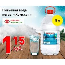 """Питьевая вода негазированная """"Хомская"""" 5л"""